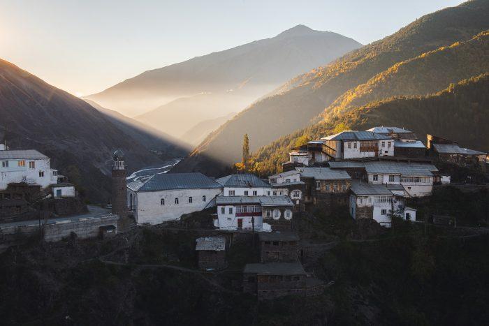 Tsakhur village in Daghestan
