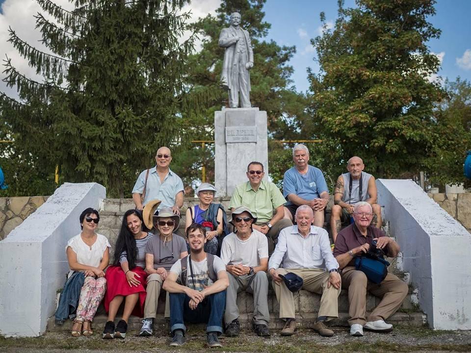 Lenin monument at the entrance to Soviet vinery of Sauk-dere